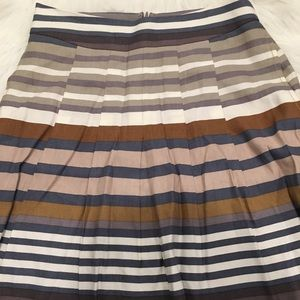 Banana Republic Skirts - Banana Republic Gray & Brown Stripped Pocket Skirt